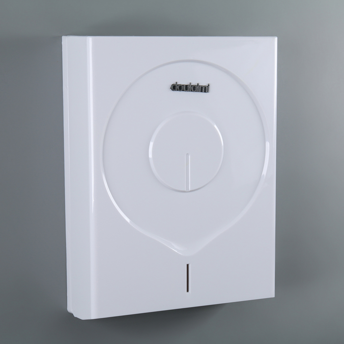 Диспенсер бумажных полотенец в листах 35×25×10 см, пластик, цвет белый