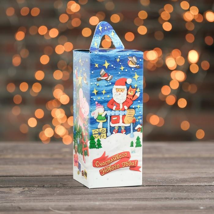 """Подарочная коробка """"Розовый слон"""", четырехгранка малая, с раскраской, 8 х 8 х 20 см - фото 308276120"""
