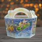 """Подарочная коробка """"Чудо"""", корзина малая, 22,5 х 20 х 13 см - фото 308276124"""