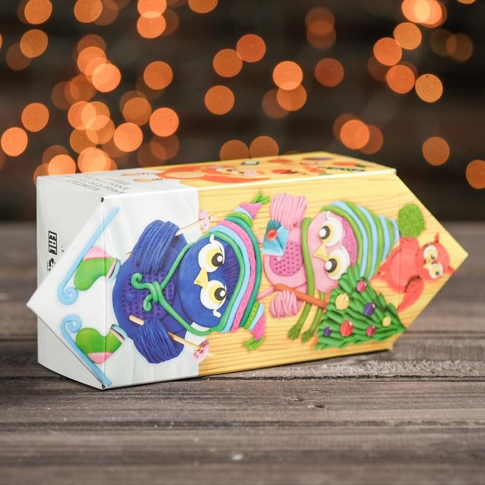 """Подарочная коробка """"Совушки"""", конфета большая, с игрой, 9,8 х 7 х 17,8 см - фото 226853827"""