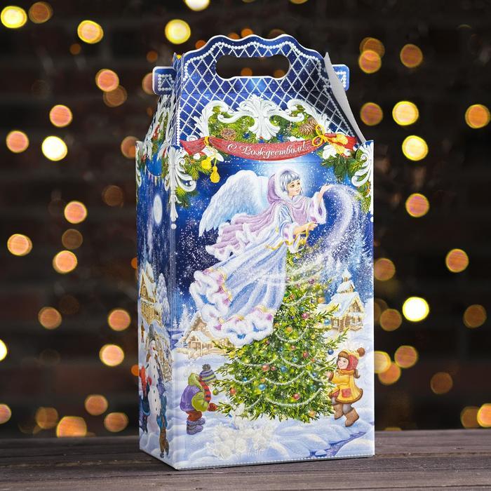 """Подарочная коробка """"Рождество"""", 20,3 х 12,3 х 41 см - фото 308276180"""