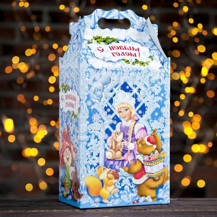 """Подарочная коробка """"Морозко"""", 20,3 х 12,3 х 41 см"""