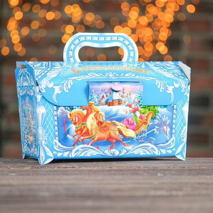 "Подарочная коробка ""Лазурь"", сундук, 25 х 15 х 15 см - фото 308276196"