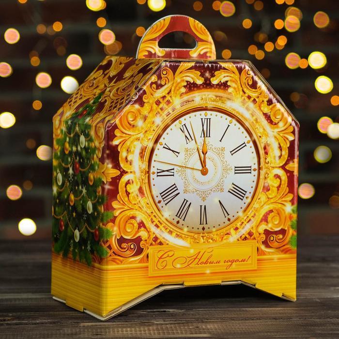 """Подарочная коробка """"Бронзовые"""", часы на ножках, 19,5 х 12 х 22 см"""