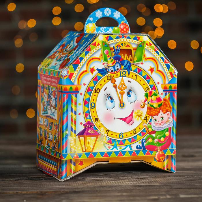 "Подарочная коробка ""Тик-Так"", часы на ножках, 19,5 х 12 х 22 см - фото 308276210"