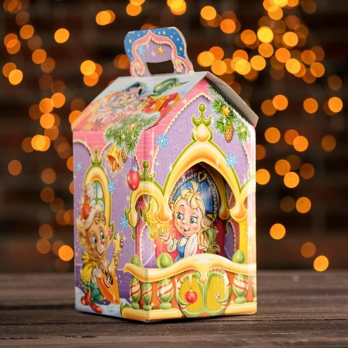 """Подарочная коробка """"Поздравляю"""", теремок, 13 х 13 х 23,5 см"""