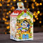 """Подарочная коробка """"Зайкин подарок"""", теремок, 13 х 13 х 23,5 см"""