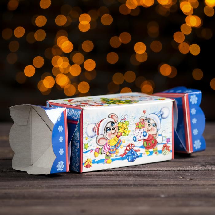 """Подарочная коробка """"Мышата"""", хлопушка, с анимацией, 15 х 8 х 8 см - фото 303316399"""