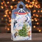 "Подарочная коробка ""Рождество"", замок малый, 14,5 х 8,5 х 25,5 см"