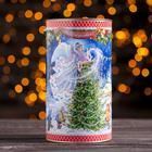 """Подарочная коробка-тубус """"Рождество"""", 12 х 22 см"""