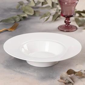Тарелка для пасты Magistro «Бланш», d=25 см, цвет белый