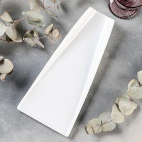 Блюдо Magistro «Бланш», 30×14×4,5 см, цвет белый