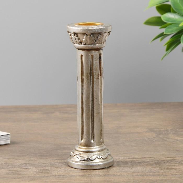 Подсвечник полистоун на 1 свечу ''Колонна'' 13х4,5х4,5 см   4311181