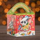 "Подарочная коробка ""Мышки-малышки"", кубик малый, с анимацией, 9 х 9 х 13 см - фото 303316415"