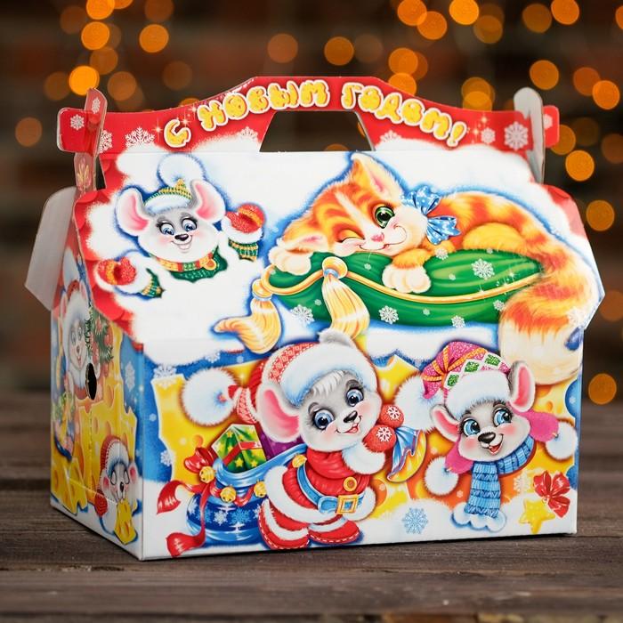 """Подарочная коробка """"Тише, мыши!"""", кладовочка, 26,4 х 14 х 18,5 см"""