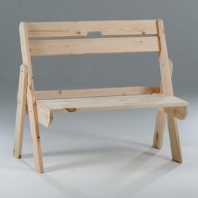 Скамейка складная, хвоя, 100х60х86 см