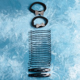 """Набор для волос """"Амалия"""" (набор 24 шт, 5 см, 6 см) бантик"""