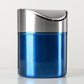 Ведерко настольное 12×12×16,5 см, цвет синий