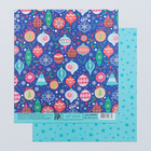 Бумага для скрапбукинга «Яркий праздник», 15.5 × 17 см, 180 г/м