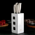 Набор кухонных ножей Nadoba Blanca, 5 шт: лезвия 8,5 см, 13 см, 17,5 см, 20 см, 20 см, с универсальным керамическим блоком, цвет белый