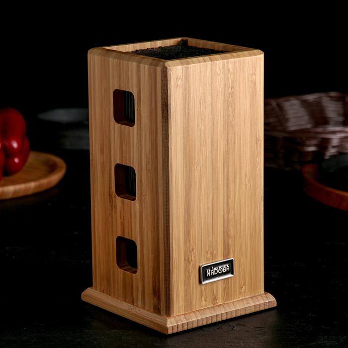 Универсальный блок для ножей Nadoba Esta, бамбук