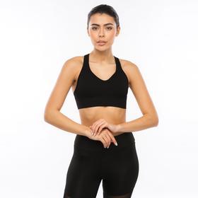 Women's sports bra-top, black, solution 44-46 (M)