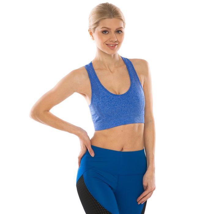 Топ-бра женский спортивный, цвет синий меланж, р-р 40-42 (S)