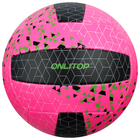 A volleyball ONLITOP R. 5, 260 gr, 2 sublayer, 18 panels, PVC, butyl camera