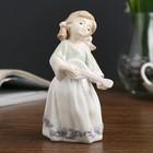 """Сувенир керамика """"Малышка с мондолиной"""" 13,5х6,5х6,5 см"""