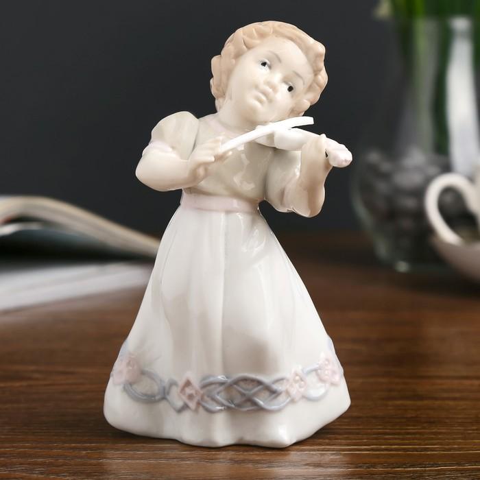 """Сувенир керамика """"Малышка со скрипкой"""" 13х8,5х8 см"""