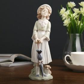 "Souvenir ceramic ""Lady with umbrella"", 22,5x8,5x7,5 cm"
