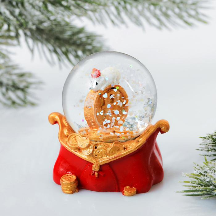 Снежный водяной шар «Рубль»