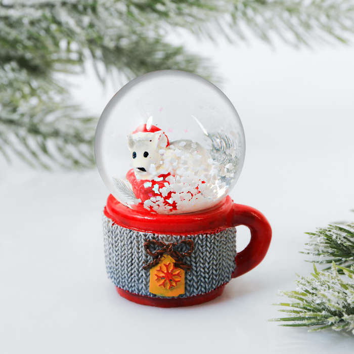 Снежный водяной шар «Мышка в кружке»