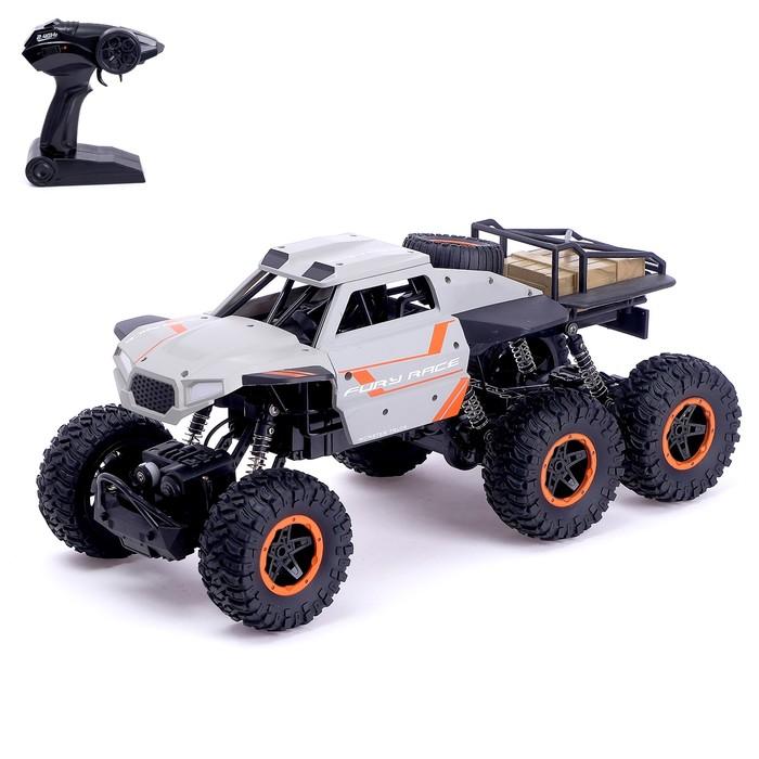 Джип радиоуправляемый «Пикап», полный привод 6WD, работает от аккумулятора, масштаб 1:12, МИКС