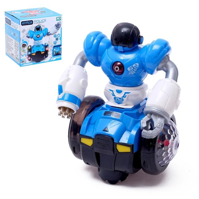 Робот «Диско», световые и звуковые эффекты, работает от батареек, цвета МИКС