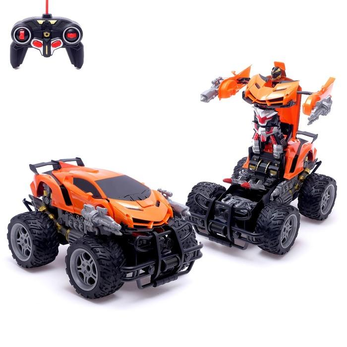 Робот радиоуправляемый «Монстр Ламба», трансформируется, работает от аккумулятора, цвета МИКС - фото 105504374
