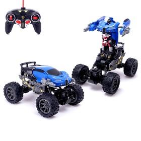 Робот-трансформер радиоуправляемый «Монстр Широн 4х4», амортизаторы, полный привод, работает от аккумулятора, цвета МИКС
