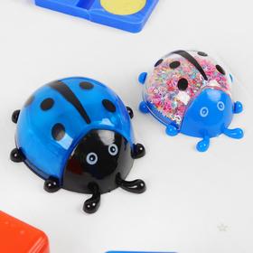 Набор для творчества «Слим божья коровка с блёстками своими руками», цвет синий