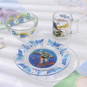 Набор посуды детский «История игрушек», 3 предмета: кружка 250 мл, салатник d=12,7 см, тарелка d=19,6 см
