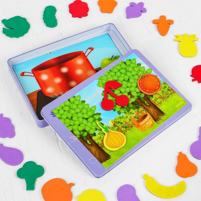 """Магнитный конструктор """"Изучаем овощи и фрукты"""" - фото 105527342"""