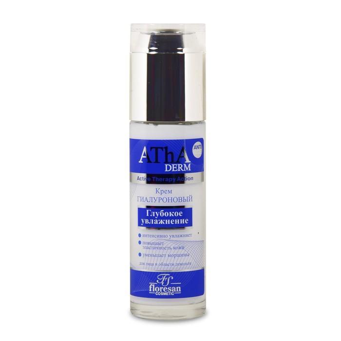 Kрем гиалуроновый ATHA Derm «Глубокое увлажнение» для лица и области декольте, 60 мл