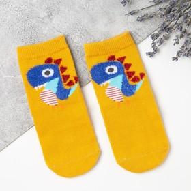 Носки для мальчика MINAKU «Дино», цвет жёлтый, размер 20-22 (14 см), (факт. 0-3)