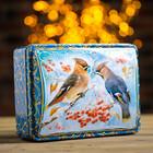 "Подарочная коробка ""Свиристели"", сундук, 22,1 х 16,05 х 6,1 см"