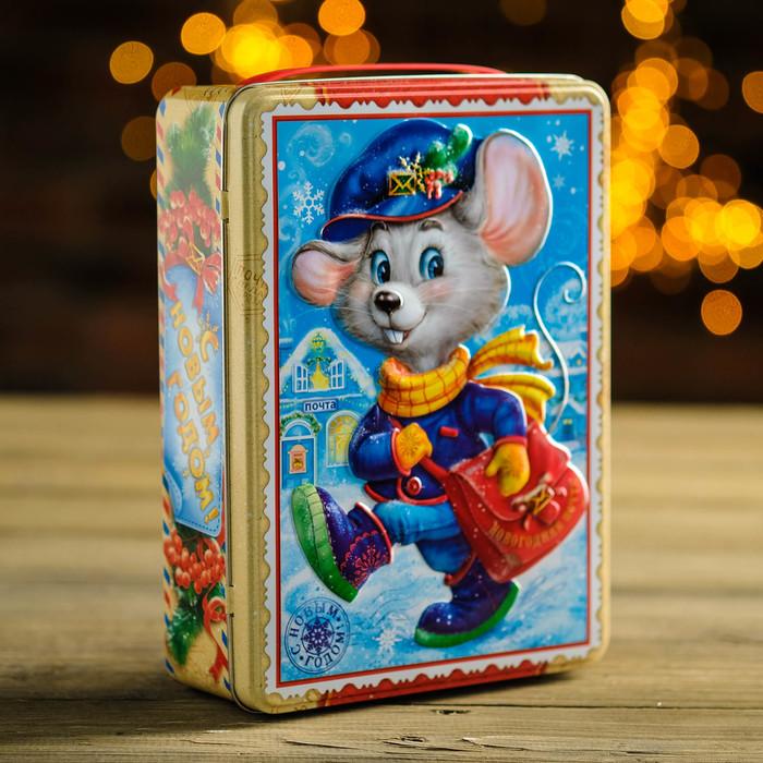 "Подарочная коробка ""Почтальон Мышкин"", прямоугольник, 22,1 х 16,05 х 6,1 см"