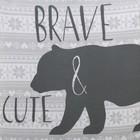 "Боди Крошка Я ""Little bear. Brave"", серый, р.24, рост 68-74 - фото 105479077"