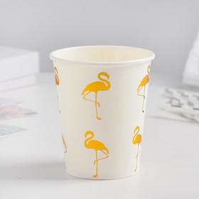 Glass paper Flamingo set of 6 PCs, gold color