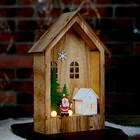 """Декор с подсветкой """"Праздничный домик"""" 6×15×23,5 см"""