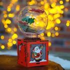 "Декор с подсветкой ""Новогодний шар"" 7,5×7,5×14 см"