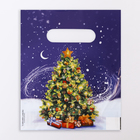 "Package ""Christmas Tree"" plastic with die-cut handle, 17 x 20 cm ,30 µm"
