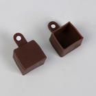Заглушки шины, 1,7 × 1,9 × 1,8 см, 2 шт, цвет коричневый